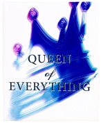 Positively Home Queen of Everything_Blue3 Queen of Everything Watercolour Painting Print on Wrapped Canvas, 60cm X 90cm , Blue,60cm X 90cm