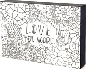 Colour Joy 54847 Love You More DIY Crafts Art Block