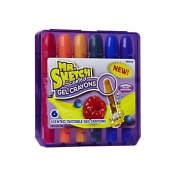 Mr. Sketch® Scented Twistable Colourful Gel Crayons, Assorted Colours, 1 Pack Of 6
