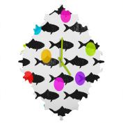 DENY Designs Elisabeth Fredriksson Happy Fish Baroque Clock, Small