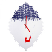 DENY Designs Robert Farkas alone In The Forest Baroque Clock, Small
