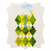 DENY Designs Robert Farkas Elegant Forest Quatrefoil Clock, Small