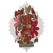 DENY Designs Valentina Ramos Good Morning Birds Baroque Clock, Small