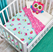 Owl,Butterfly and Bird Girls Baby Blanket Nordic