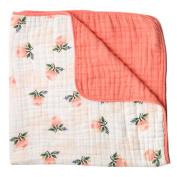 Little Unicorn Cotton Muslin Quilt Blanket - Watercolour Rose