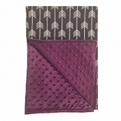 BayB Brand Blanket - Grey Arrow with Purple