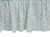 Zack & Tara Crib Skirt - Arrows in Aqua