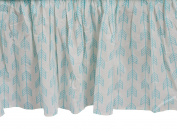 Zack & Tara Crib Skirt - Arrows in Aqua