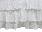 Zack & Tara Tiered Crib Skirt - White