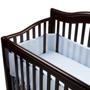 100% Polyester, Soft, Easy Wrap Design Blue Crib Liner