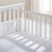 100% Polyester, Soft, Easy Wrap Design White Crib Liner