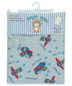 Honey Baby Fitted Crib Sheet - blue, one size