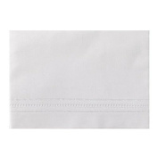 White Linen Baby Sheet Set with Gilucci and Hemstitch Embroidery (Set Includes