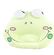 Scheppend Cute Baby Pillow Prevent Flat Head Protective Head Type,Green Frog