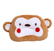 Scheppend Newborn Cartoon Pillow Cotton Anti-roll Correct Head Type,Dark Coffee