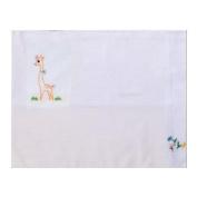 Cotton 30cm X 43cm White Baby Sham with Giraffe