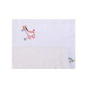 Cotton 30cm X 43cm White Baby Sham with Horse
