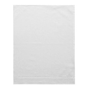 Pure Cotton 36cm X 46cm White Baby Pillowcase with Hemstitch
