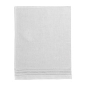 Pure Linen 30cm X 41cm White Baby Pillowcase with Gilucci and Hemstitch