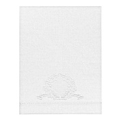 Pure Linen 30cm X 41cm White Baby Pillowcase with Madeira Crest Embroidery