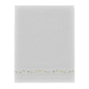 Pure Linen 30cm X 41cm White Baby Pillowcase with Maderia Pastel Roses