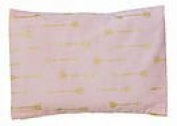 summer & sage Mustard Seed Infant Pillow, medium, arrows, blush