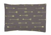 summer & sage Mustard Seed Infant Pillow, medium, arrows, charcoal