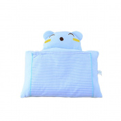 Eonkoo Blue / Cat Pattern Design Baby Positioner Pillow for sleep , Prevent Flat Head With Natural Organic Soft Cotton Protective Sleeping Pillow for Newborn Gifts