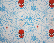 Spiderman Webbed Classic (Flat Top Sheet Only) Size TODDLER Boys Girls Kids Bedding