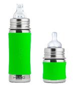 Pura Kiki Infant / Toddler Bottle Stainless Steel - 2 Pack Combo - 330ml and 150ml - Green