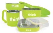 Bento Box, Soup Bowl, Baby Bowl, Kids Cup Feeding Set in Light Green