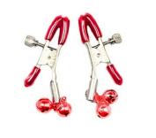 HiiBaby®New SM Breast Vaginal Nipple Clamps Double Bells Breast Clip Massage