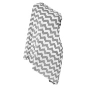 Baby Nursing Cover SWEETBB Baby Feeding Cover, Nursing Infinity Scarf for Breastfeeding- White and Light Grey