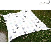 [Kangaruru] 100% Cotton 70cm x 80cm Multi-Use Nursing Baby Blanket with Carrying Bag - 4 Side Holder Strap with Button- Nursing Cover & Sun Shade & Baby Warmer - Made in Korea