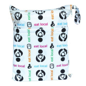 Wet Dry Bag Baby Cloth Nappy Nappy Bag Reusable Two Pockets Eat Local