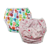 Babyfriend New Cute Reusable Baby Swim Nappies (Pack of 2),Washable,Adjustable