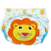 Eonkoo Random Colour Cute Design Portable Reusable baby Cloth nappy Cover with prevent side leakage for kids, 100% cotton soft and comfortable nappy Nappies Cloth for 0-24 months