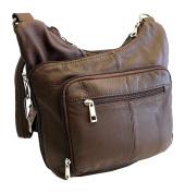 Stylish Leather Locking Concealment Crossbody Purse - CCW Concealed Carry Gun Handbag, Ambidextrous
