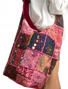Patchwork Handmade Pink Cotton Hobo Crossbody Shoulder Bag Hipster Boho Women Sling
