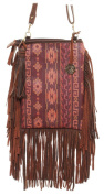 Double J Saddlery Women's Native Aztec Print Leather Pouch Purse PP42