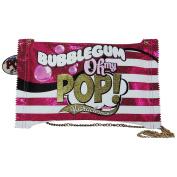 Pop Art Bubble Gum Crossbody Bag Crossover Free Time Bag for Girls