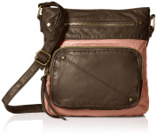 T-Shirt & Jeans Washed Two Tone Passport Front Pocket Cross Body