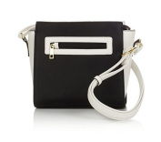 TravelSmith RFID Crossbody Bag with Anti-Theft Pacsafe Features ~Black/White