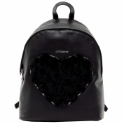 Love Moschino Women's Fur Heart Backpack Handbag