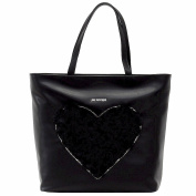 Love Moschino Women's Fur Heart Tote Carryall Handbag