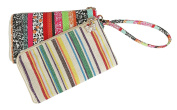 MKF Collection Tropical Designer Double Pouch Wristlet