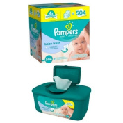 Pampers Baby Fresh Baby Wipes, 504 sheets with Pampers Baby Fresh Baby Wipes, 72 sheets