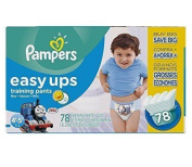 Pampers Get outstanding leak protection Easy Ups Training Pants Size 6 (4T5T) Value Pack Boys Nappies 78 Count