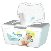 Pampers Wipes sensitive skin Softgrip Texture Baby Wipes Tub Sensitive - 64 Wipes/Tub