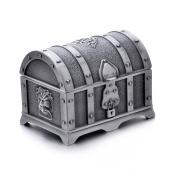 REINDEAR Vintage Pewter Tooth Fairy Treasure Chest Trinket Jewellery Box US Seller ...